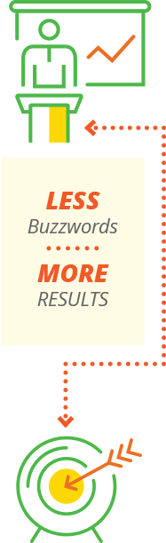 Less Buzzwords More Results